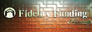 Fidelity Funding Bancorp lobby signage
